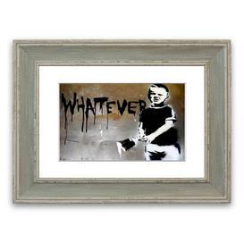 image-'Whatever Kid' Framed Graphic Art East Urban Home Size: 40 cm H x 50 cm W, Frame Options: Blue