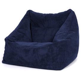 image-Cord Bean Bag Chair Ebern Designs Upholstery Colour: Navy Blue