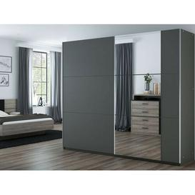 image-Podgorni 2 Door Sliding Wardrobe Wade Logan Colour: Grey