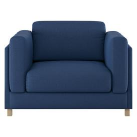 image-Colombo Blue FaBric Armchair, Blue