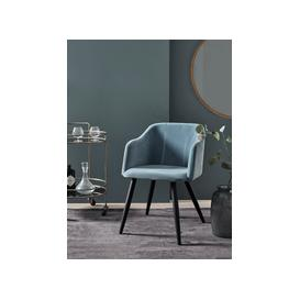 image-Ice Blue Velvet Occasional Chair