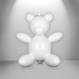 image-Bear Balloon Figurine East Urban Home Size: 25cm H x 20cm W x 15cm D, Finish: White