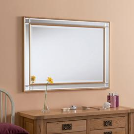 image-Ebner Wood Framed Wall Mounted Accent Mirror