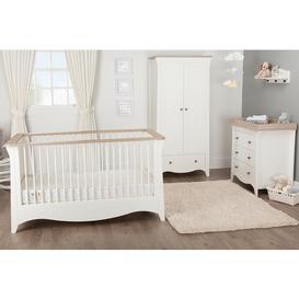 image-Clara 3 Piece Nursery Room Set White &amp Ash