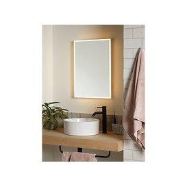 image-John Lewis & Partners Aura Wall Mounted Illuminated Bathroom Mirror, Medium