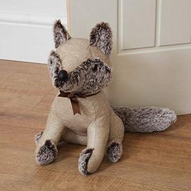 image-Hestia? Faux Leather Door Stop - Beige Fox