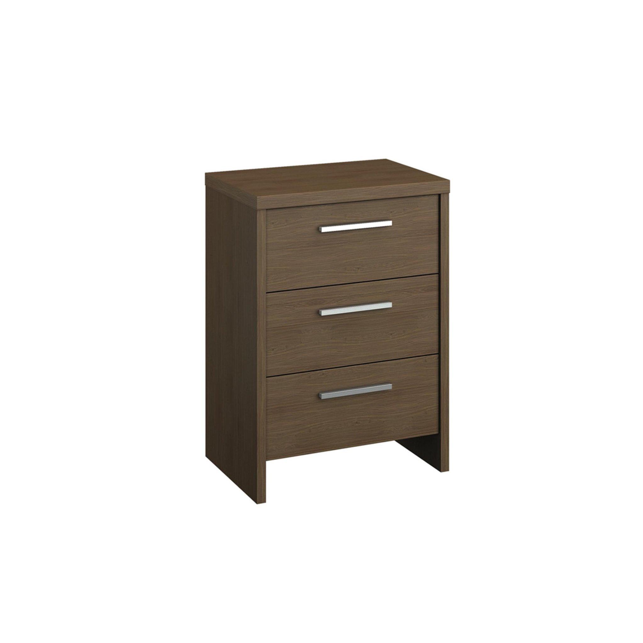 image-Mirabel 3 Drawer Bedside Table