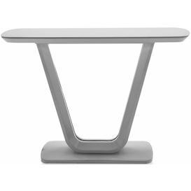 image-Vida Living Lazzaro Light Grey Matt Console Table