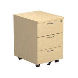 image-Progress Low Mobile Pedestal, Maple, Free Standard Delivery