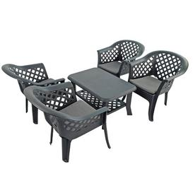 image-Noker 4 Seater Dining Set with Cushions