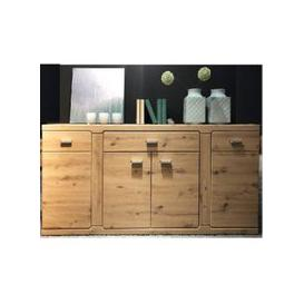 image-Chelsea Sideboard In Artisan Oak With 4 Doors And 3 Drawers