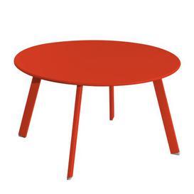 image-Mccreight Stainless Steel Coffee Table Dakota Fields Colour: Paprika, Size: 40cm H x 70cm W x 70cm D