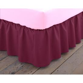 image-Margret 144 Thread Count Valance Zipcode Design Size: Double (4'6), Colour: Burgundy