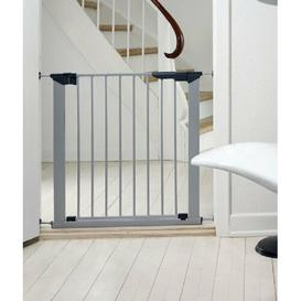 image-No Screw Stair Safety Gate Symple Stuff Colour: Silver, Size: 86cm H x 93.3cm W