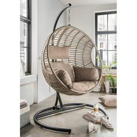image-Vasillios Hanging Chair with Stand Bay Isle Home Colour: Beige