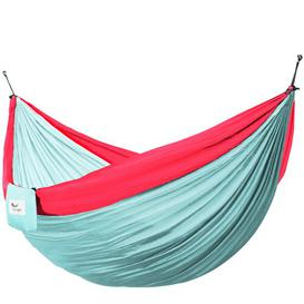 image-Lucia Double Camping Hammock Freeport Park Size: Double, Colour: Celeste/Rose