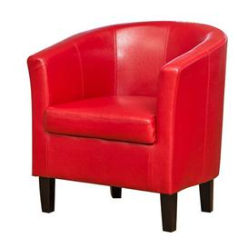 image-Windle Tub Chair Marlow Home Co. Upholstery Colour: Red