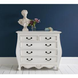 image-Provencal Bombe White Chest of Drawers