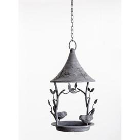image-Hanging Decorative Bird Feeder Brambly Cottage Colour: Grey