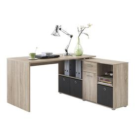 image-Lex L-Shape Desk Office Suite Symple Stuff Colour: Oak