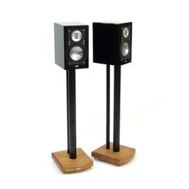 image-70cm Fixed Height Speaker Stand Symple Stuff Finish: Black/Medium Bamboo