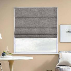 image-Hopsack Room Darkening Roman Blind August Grove Size: 200cm W x 160cm L