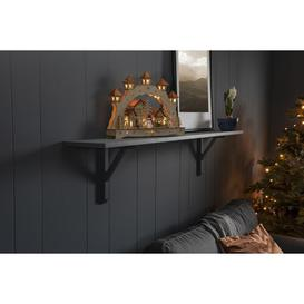 "image-""Winter Christmas Village"" LED Wooden Welcome Light Konstsmide"