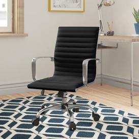 image-Zosia Desk Chair Zipcode Design Upholstery Colour: Black