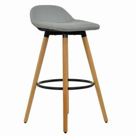 image-Wooden 73cm Bar Stool Norden Home Colour (Upholstery): Charcoal