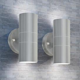 image-Hinds Outdoor Wall Light Brayden Studio Fixture Finish: Silver