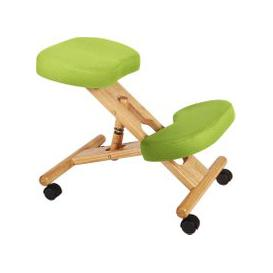 image-Wood Framed Kneeling Chair, Lime