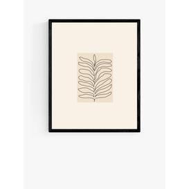 image-Flower Love Child - Organics Wood Framed Print, 52 x 42cm, Black/White