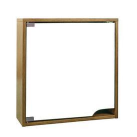image-Milan Oak Mirror Cabinet Light Oak