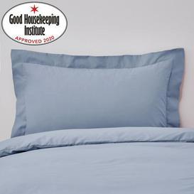 image-Non Iron Plain Dye Cornflower Oxford Pillowcase Blue