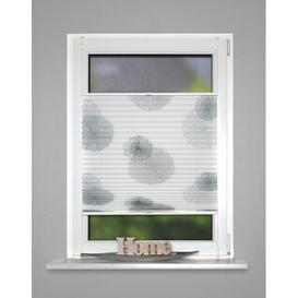 image-Aylsham Semi-Sheer Pleated Blind Ebern Designs Size: 60cm W x 130cm L, Finish: White/Grey