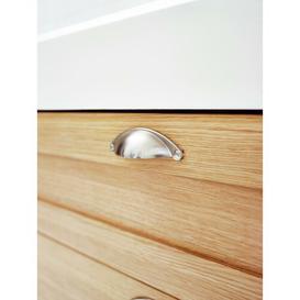 image-Claypoole 400mm Wall Mounted Vanity Unit Belfry Bathroom Base Finish: Light Oak
