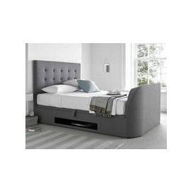 image-MW Kaydian Design Barnard 5FT Kingsize Ottoman TV Bed,Smoke