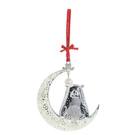 image-Tipperary Crystal Pearl Bear on Moon Christmas Hanging Figurine Ornament Tipperary Crystal