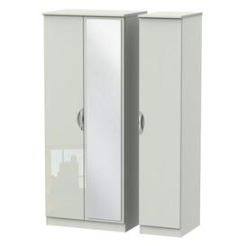 image-Cambourne Cam137 Triple Wardrobe With Mirror Door
