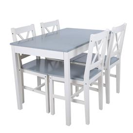 image-Cauthen 4 - Person Solid Wood Dining Set