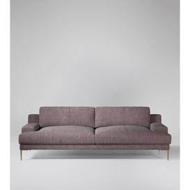 image-Swoon Almera Three-Seater Sofa in Lilac House Weave