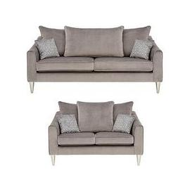 image-Laurence Llewelyn-Bowen Apollo Fabric 3 Seater + 2 Seater Scatter Back Sofa Set (Buy And Save!)