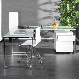image-Crete L-Shape Executive Desk Wade Logan