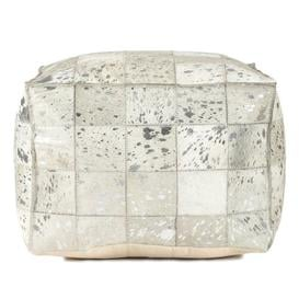 image-Vernita Leather Pouffe Blue Elephant