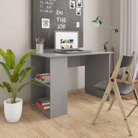 image-Aleena Desk Brayden Studio Top Colour: Grey, Frame Colour: Grey