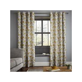 image-Catherine Lansfield Inga Leaf Eyelet Curtains