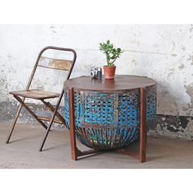 image-Upcycled Chicken Coop Table Blue