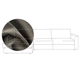 image-Heal's Nimbus 4 Seater Left Hand Corner Chaise Velvet Charcoal Black Feet