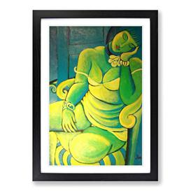 image-'Painting' by Ismael Nery Framed Painting Print