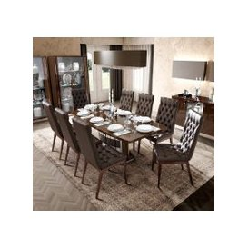 image-Camel Roma Day Walnut Italian Butterfly Extending Dining Table and 6 Capitonne Eco Leather Chairs